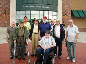 Gambrill Gardens residents enjoying a day out at a Cardinals game
